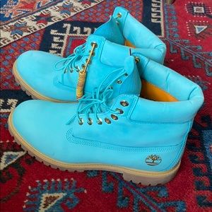 Timberland Boots Baby Blue Waterproof Suede 11